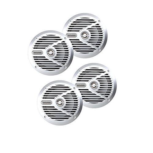 "Alpine SPS-M601 6-1//2"" Marine Coaxial 2-Way Marine Speaker Bundle"