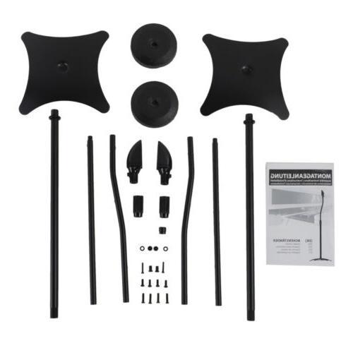 US 2pcs Speaker Stands Universal Adjustable Surround Sound S