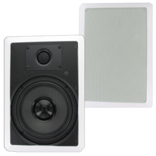 "Theater Solutions TS80W In Wall 8"" Speakers Sound Theater"