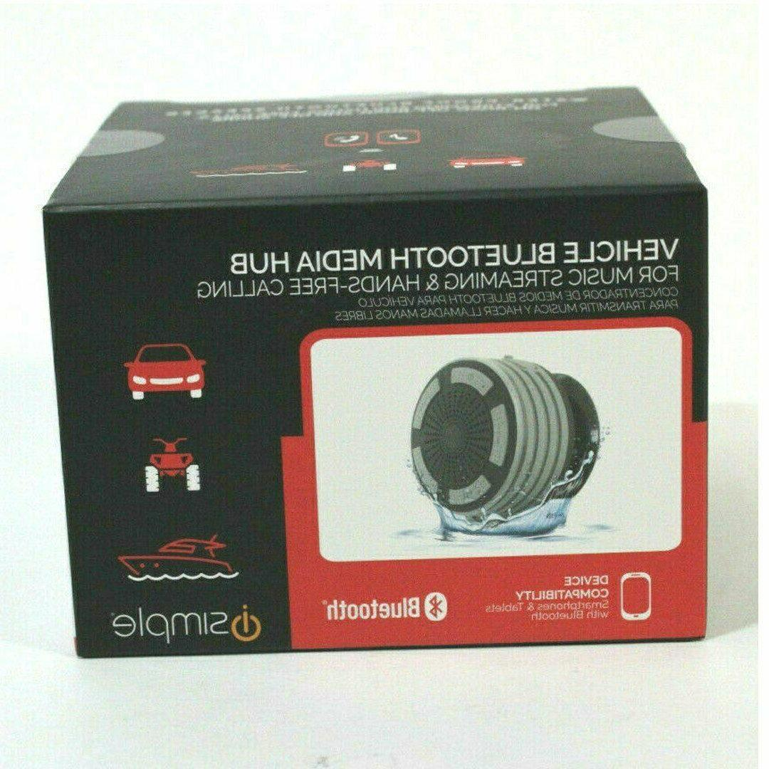 Simple, Waterproof shower, speaker with Bluetooth, Gray colo