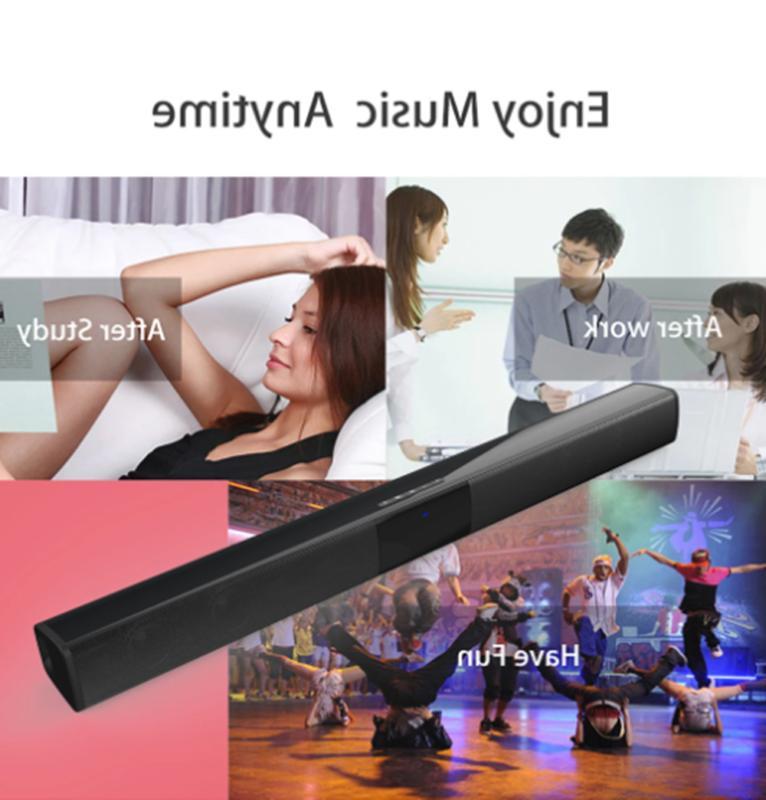 Wireless Surround Sound Bar 4 Speaker System BT Subwoofer TV