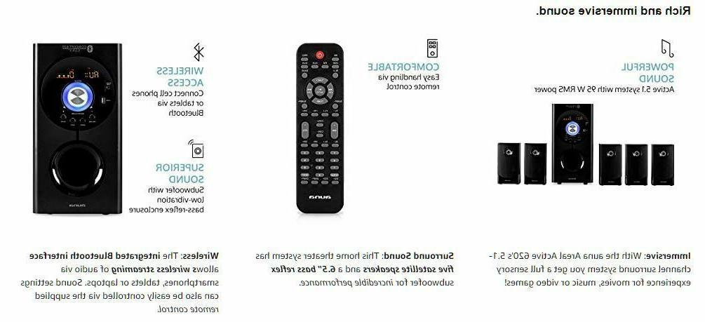 Wireless Sound Home Theater Set Bluetooth