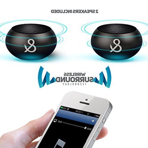X2 Portable Surround Volume 150W PMPO Deep Bass, 2 to 1 Mini Wireless