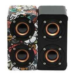 M5 Wooden Speaker Stereo surround sound Loudspeaker Wireless