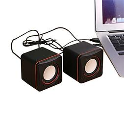 Mini USB Laptop Speakers Wired Laptop Speakers 2.0 Channel S
