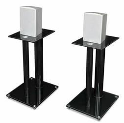 Mount-It! Two Satellite Speaker Stands for Surround Sound Ho