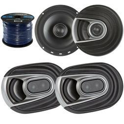 """2x JBL MS9520 6x9"""" Coaxial Marine Speakers, 2x JBL MS6510 6."""
