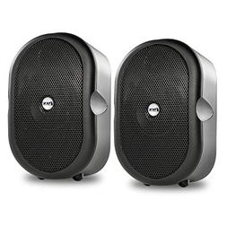 LyxPro MSW-3 Pair of Mini Bluetooth 40-Watt Active Speakers