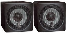 """NEW  3"""" 100w Cube TV Speakers.Black.Compact Stereo Surround"""