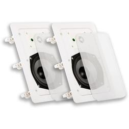 "NEW  5.25"" in Wall Speaker Pair.5-1/4"" woofer.7.5 x 11 squar"