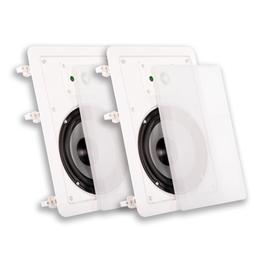 """NEW  6.5"""" in Wall Speaker Pair.6-1/2"""" woofers.8 x 12 frame.H"""