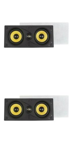 """NEW  Dual 5.25"""" In-wall Center Speakers.LCR Ceiling Flush Mo"""