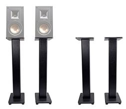 "Pair 36"" Bookshelf Speaker Stands Klipsch R-15M Bookshelf Sp"