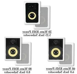Pair of 2-Way Home Theater Surround Sound In-Wall 8 Ohm Spea