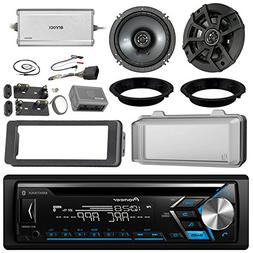 """Pioneer DEH-S4000BT CD Receiver Bundle/2 Kicker 6.5"""" Speaker"""