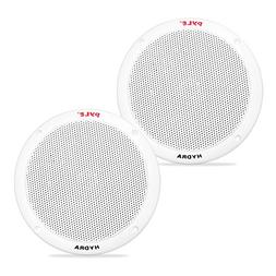 6.5 Inch Dual Marine Speakers - 2 Way Waterproof and Weather