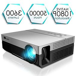 1080P Projector, CiBest Upgraded Native 1080P Projector HD V