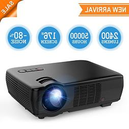 Projector, TENKER Video Projector Upgrade Lumens +70% Bright