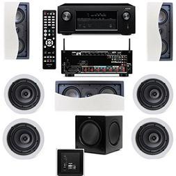 Klipsch R-2502-W II In-Wall Speaker  7.1 Denon AVR-X2100W 7.