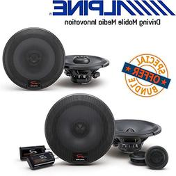 Alpine R-Series 6.5 inch 300 Watt Coaxial 2-Way Car Audio Sp