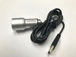 OMNIHIL Replacement 2-Port USB Car Charger+ MICRO-USB for JT