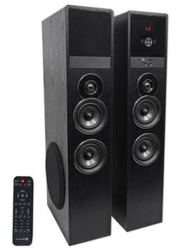 Rockville TM80B Black Home Theater System Tower Speakers 8""