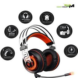 Sades 7.1 Surround sound Stereo Gaming USB with Noise Isolat