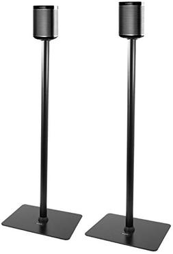 VIVO Black Speaker Floor Stands  Designed for SONOS Play 1 a