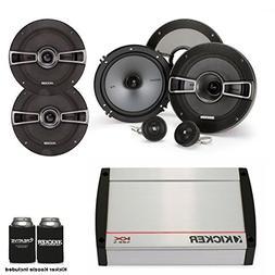 Kicker Speaker package - KX400.4 4 Channel Amp, a Pair of KS