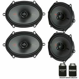 Kicker Speaker Bundle Two pairs of Kicker 6x8 Inch KS-Series