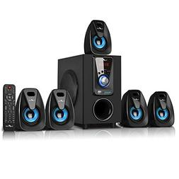 beFree Sound 5.1 Channel Surround Sound Bluetooth Speaker Sy