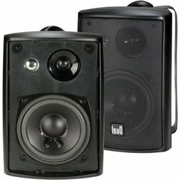 Surround Sound Stereo 2x Wall Mount Speaker Waterproof Patio