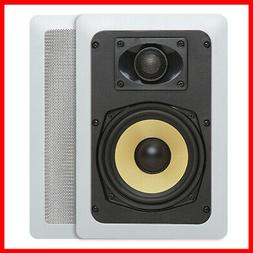 "Cmple 5.25"" Surround Sound 2-Way In-Wall/In-Ceiling Kevlar S"