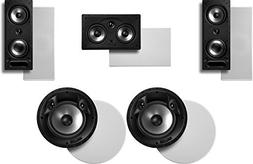 Polk Audio Surround System: Pair of 265-rt, 1 255c-rt In-wal