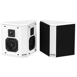 Fluance SXBP2WH Home Theater Bipolar Surround Sound Speakers