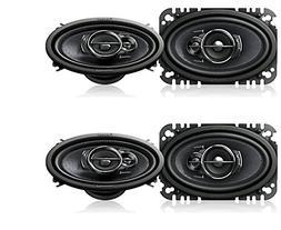 "Pioneer TS-A4676R 4"" x 6"" 3-Way Speaker, Set of 2"