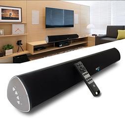 YCCTEAM TV Soundbar, 34-Inch 2.0 Channel Sound Bar TV Wirele
