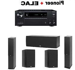 Onkyo TX-NR585 Receiver + Pair of ELAC F6.2 2.0 Floorstandin