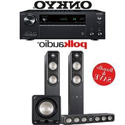 Onkyo TX-NR787 9.2-Channel 4K Network A/V Receiver + Polk Au