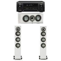 ELAC Uni-Fi Slim White 3.0 System with 2 ELAC FS-U5 Floorsta