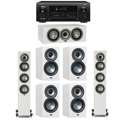 ELAC Uni-Fi Slim White 7.0 System with 2 ELAC FS-U5 Floorsta