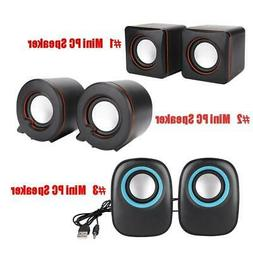 USB 3.5mm Jack PC Stereo Speaker Surround Sound for Computer