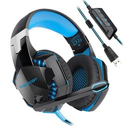 USB Gaming Headset, TeckNet Wired 7.1 Channel Surround Sound