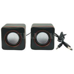 USB Stereo Speaker 3D Surround Sound - Computer PC Laptop No