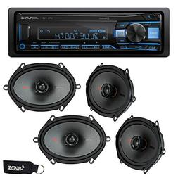 Alpine UTE-73BT Bluetooth Receiver , and Two Pairs of Kicker