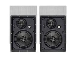 Monoprice 134199 in-Wall Speakers 6.5 Inch Carbon Fiber 3-Wa