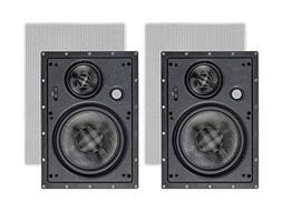 Monoprice in Wall 3-Way Speakers Carbon Fiber - 8 Inch  with
