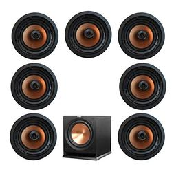 Klipsch 7.1 In-Wall System with with 7 CDT-5800-C II In-Ceil
