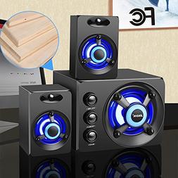 Wooden Computer Speakers USB Powered Audio Desktop Colorful