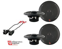 2 Pairs of XED62 XED Series 6.5 inch 2-Way Coaxial Car Speak